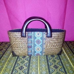 Rattan handbag wholesale with Thai definition pattern