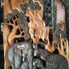 Carved Teak Elephants from Wood Carving Village in Chiang Mai