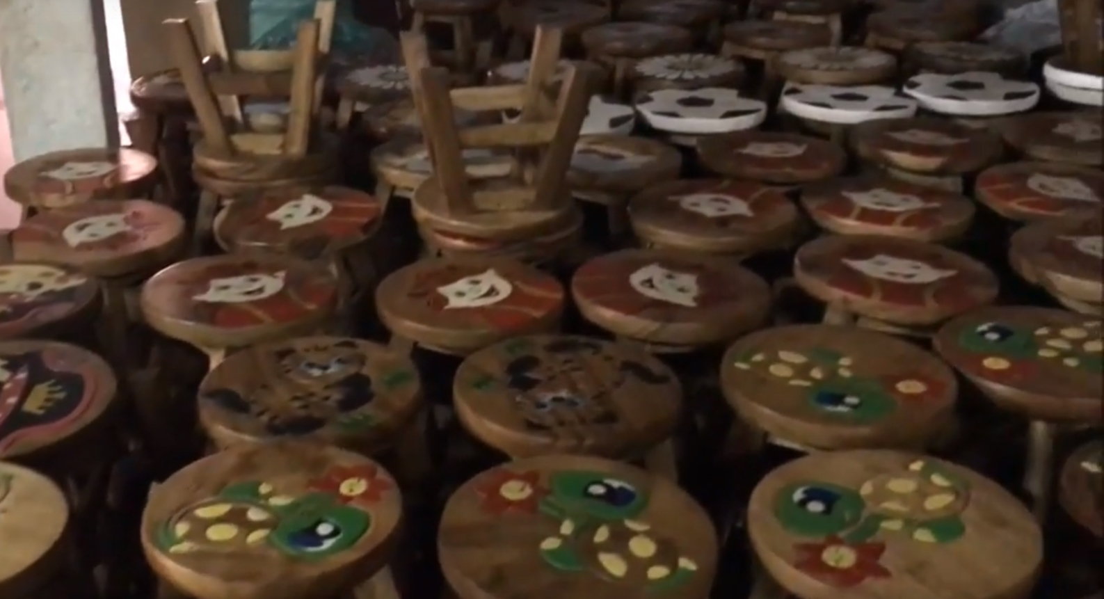 Childrens Wooden Stools Wholesale Supplier Cleaning Prior to Export Delivery