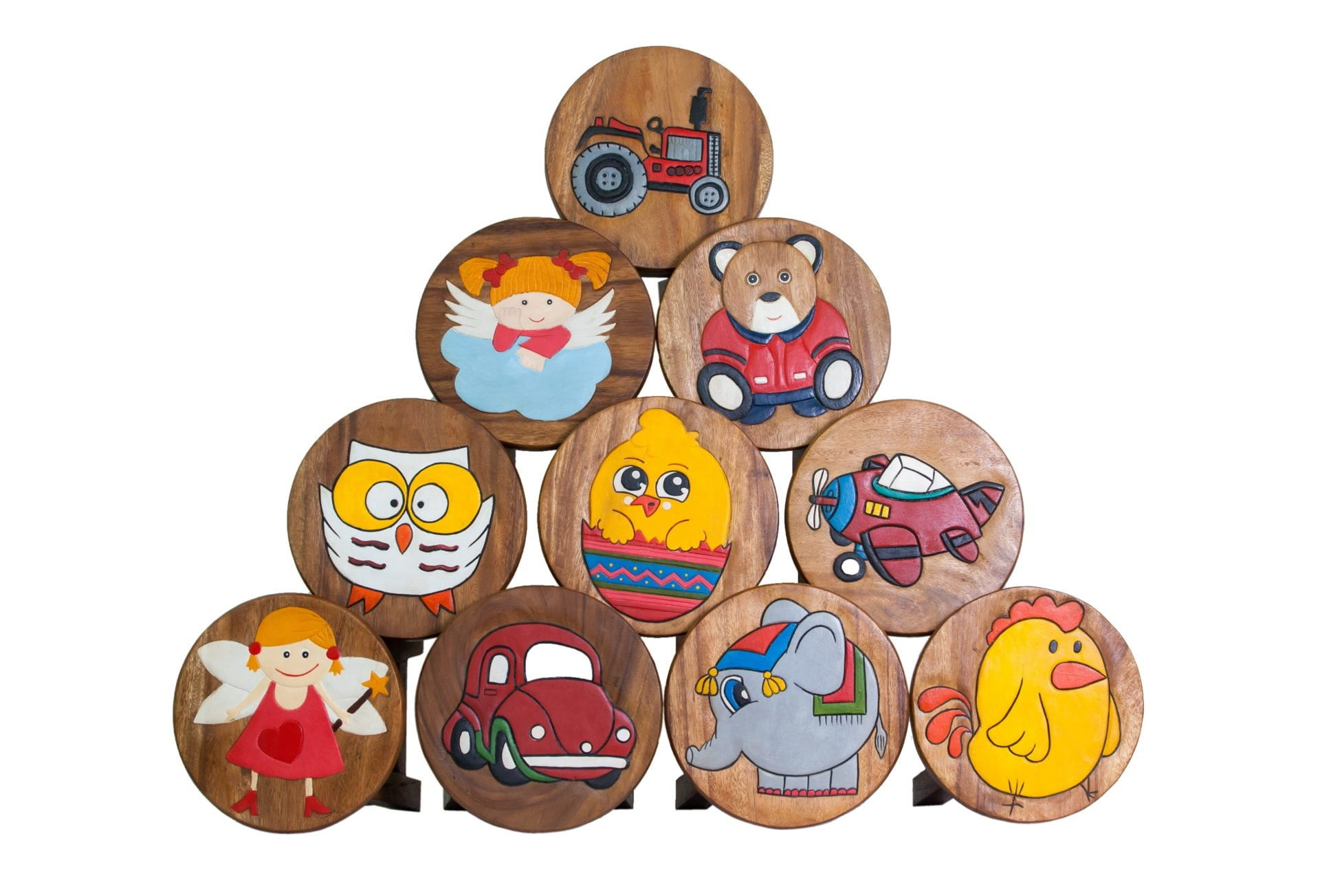 CHILDRENS WOODEN STOOLS AND KIDS' FURNITURE