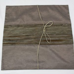 Thai cushion cover in gray color with brown stripes