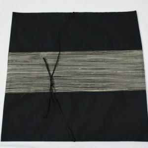 Thai cushion cover in black color with white stripes