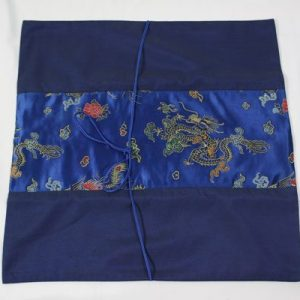 Thai cushion cover in blue color with dragon pattern