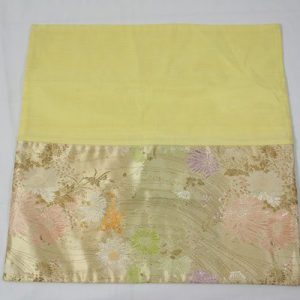 Thai cushion cover in champagne color with floral pattern