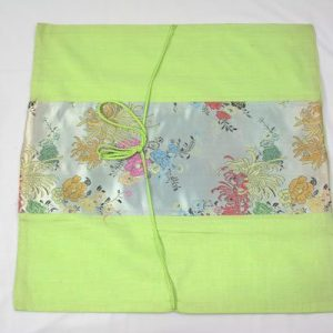 Thai cushion cover in erin color with floral pattern