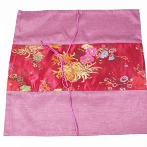 Thai pillow cover in violet color with floral design