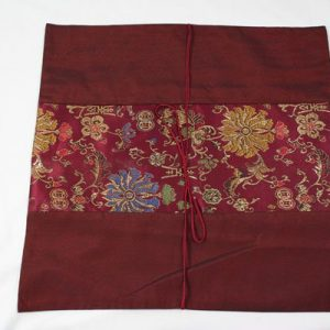 Thai pillow cover in maroon color with flower pattern