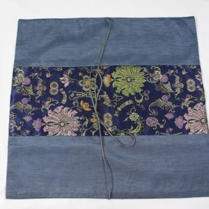 Thai pillow cover in blue color with floral pattern