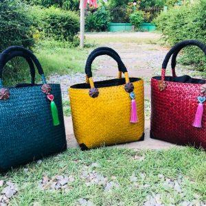 Thailand handicrafts Wholesale Bamboo Handbag